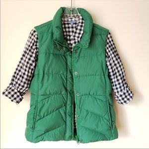 J Crew green puffer vest